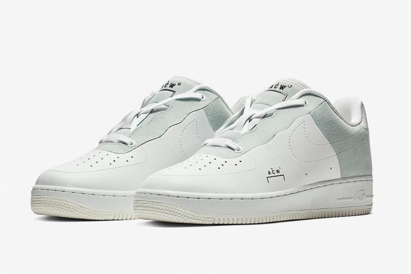 A-COLD-WALL* x Nike 聯名 Air Force 1 白色版本官方圖片釋出