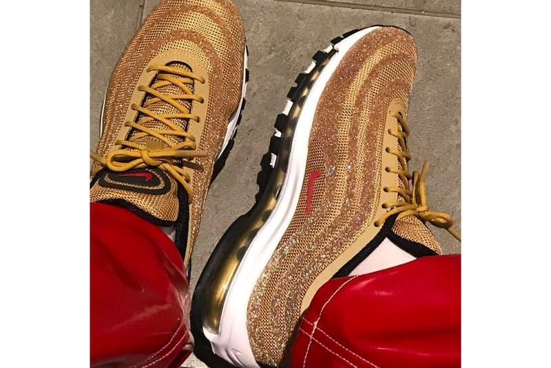 Nike Air Max 97「Metallic Gold」全新 Swarovski 水晶定製版本