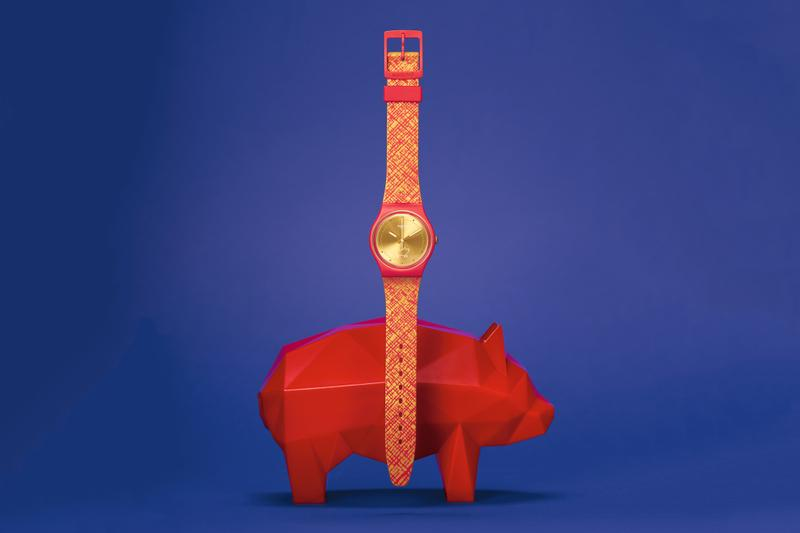 Swatch 推出 2019 中國新年「豬光寶氣」別注腕錶