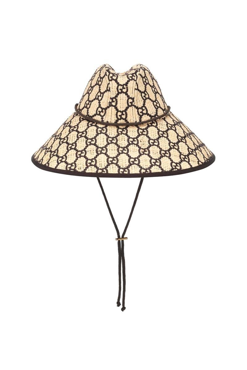 Gucci 推出全新 GG Raffia 寬沿草帽