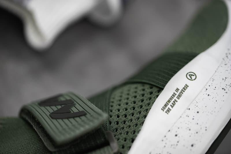 近赏 AAPE BY A BATHING APE® 自家首双鞋款设计