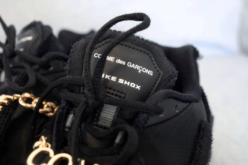 近賞 COMME des GARÇONS x Nike 聯名 Shox TL 鞋款