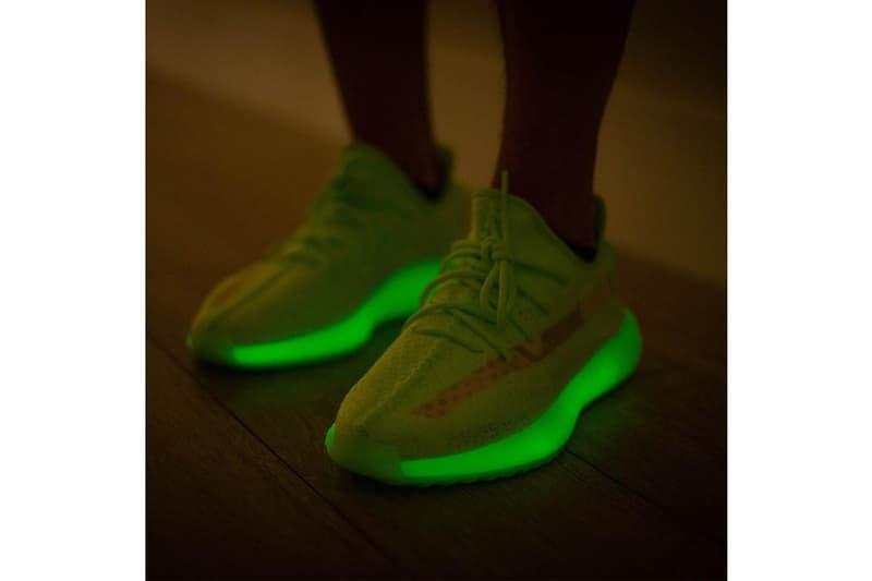 YEEZY BOOST 350 V2 全新「Glow In The Dark」配色上腳預覽