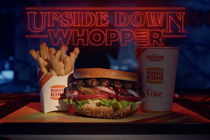 Burger King 為人氣影集《Stranger Things》第三季推出限定「Upside Down Whopper」套餐