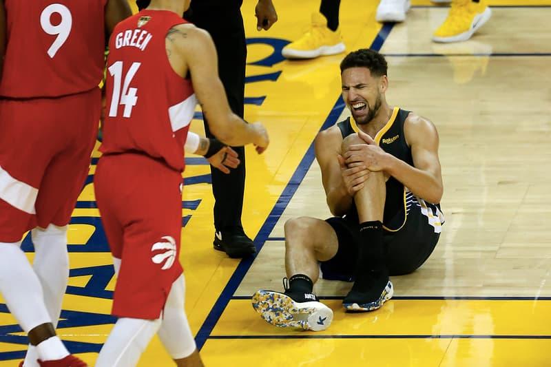 NBA 季後賽 2019 − Klay Thompson 左膝傷勢確認為十字韌帶撕裂,需休養八個月以上