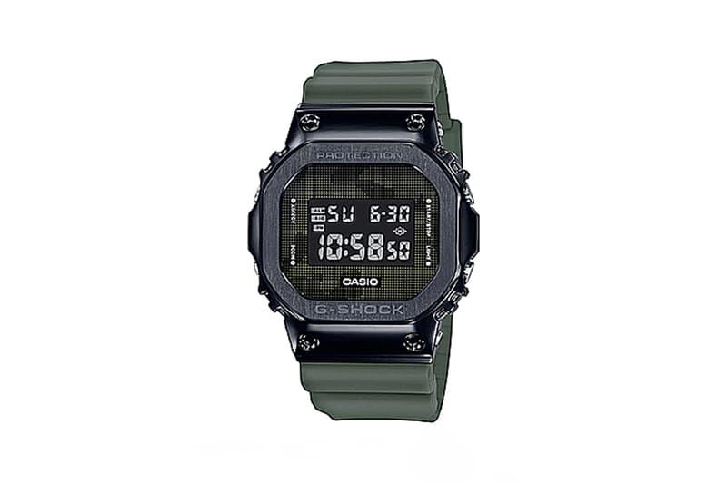 G-Shock「鋼 G」GM-5600B-3 不繡鋼手錶推出軍事迷彩版本