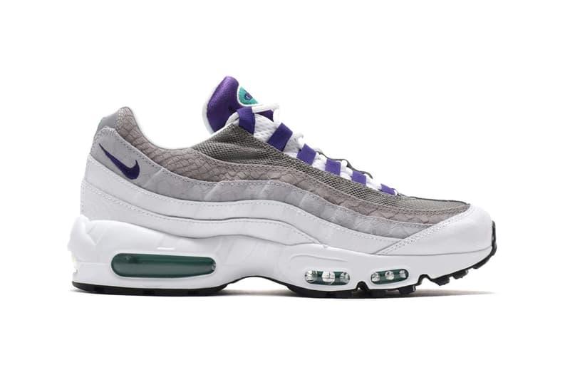 Nike 推出 Air Max 95 OG 配色「White/Court Purple」蛇紋鞋型