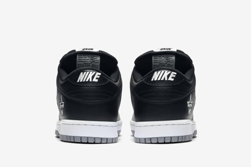 Supreme x Nike SB Dunk Low 最新聯乘配色「Black/Metallic Silver」搶先曝光