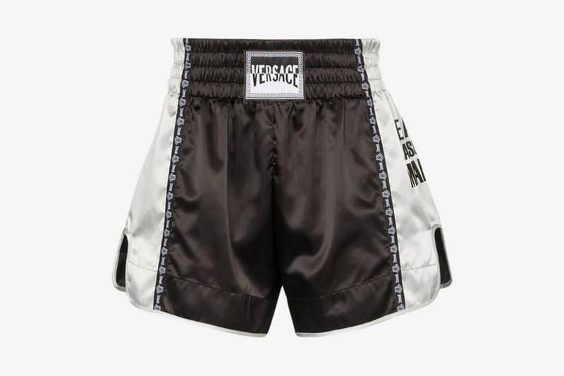 奢華運動風!Versace 推出全新緞面泰拳短褲
