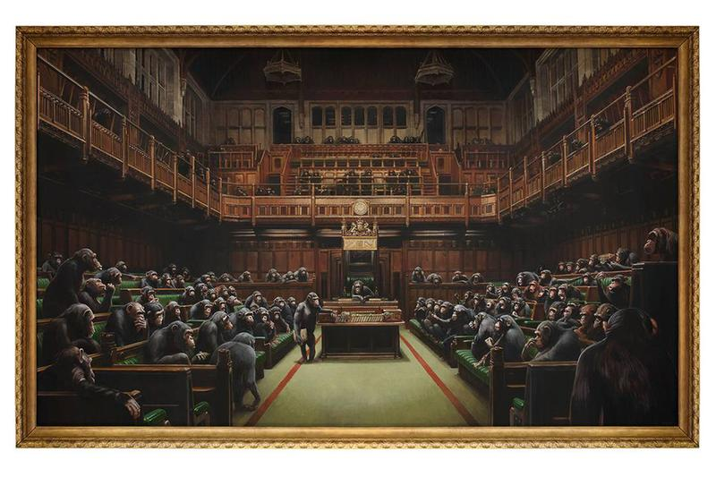 Banksy《Devolved Parliament》以 £988 萬英鎊售出