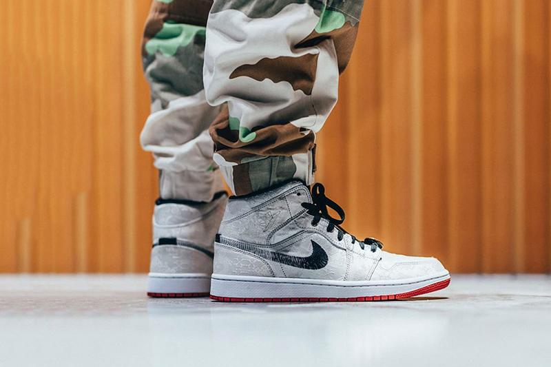 率先預覽 CLOT x Air Jordan 1 Mid「Fearless」上腳圖輯