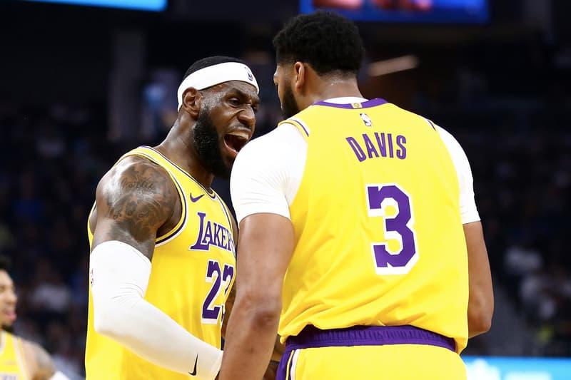 LeBron James 與 Anthony Davis 於 Lakers 與 Warriors 熱身賽正式合體