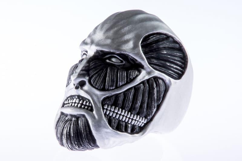 率先近賞價值 $2,300 美元之《進擊的巨人》造型戒指