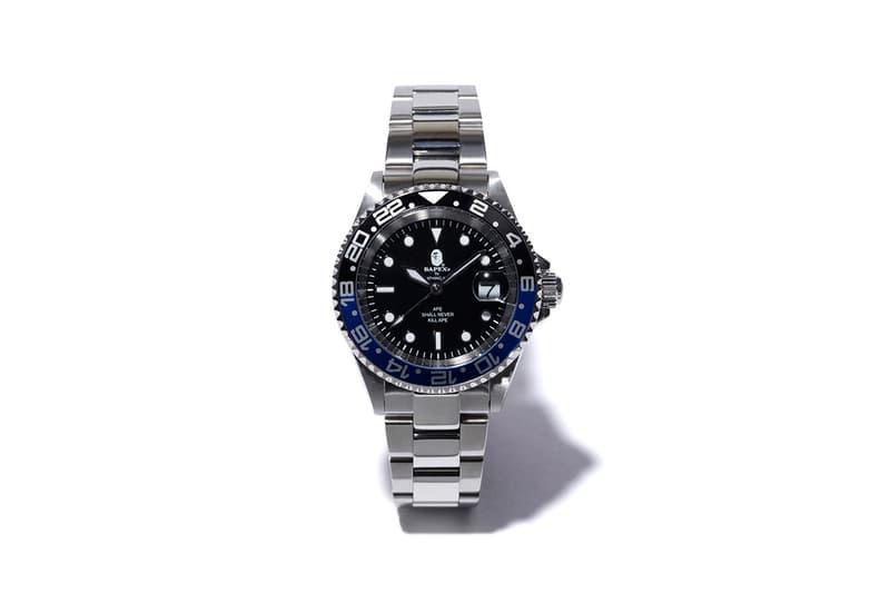 超人氣致敬 − A BATHING APE® 推出 BAPEX「藍黑」TYPE-2 手錶