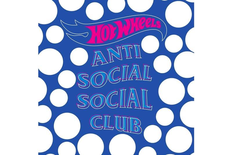 Anti Social Social Club 釋出 Hot Wheels 聯乘企劃