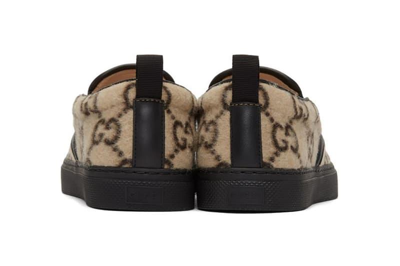 Gucci 標誌性圖樣羊毛鞋新登場