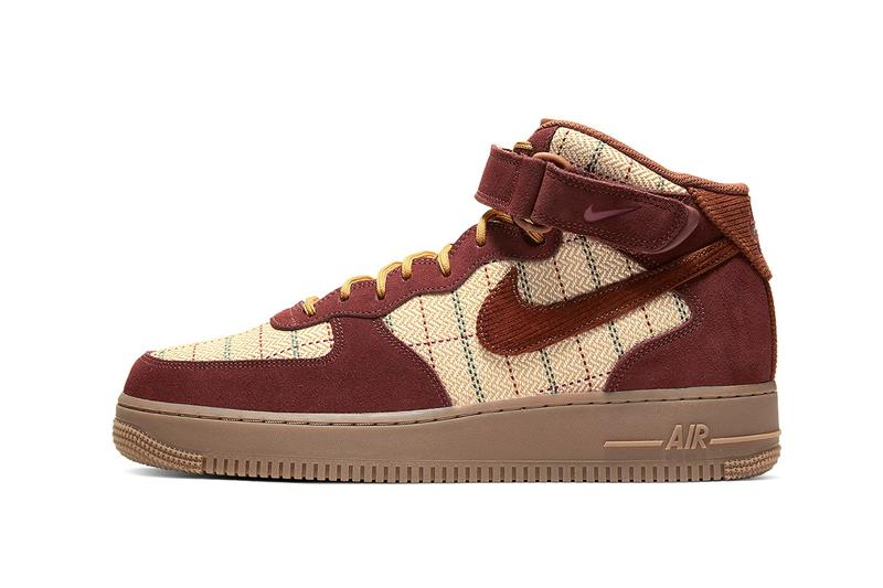 Nike 全新格紋印花 Air Force 1 Mid 發佈