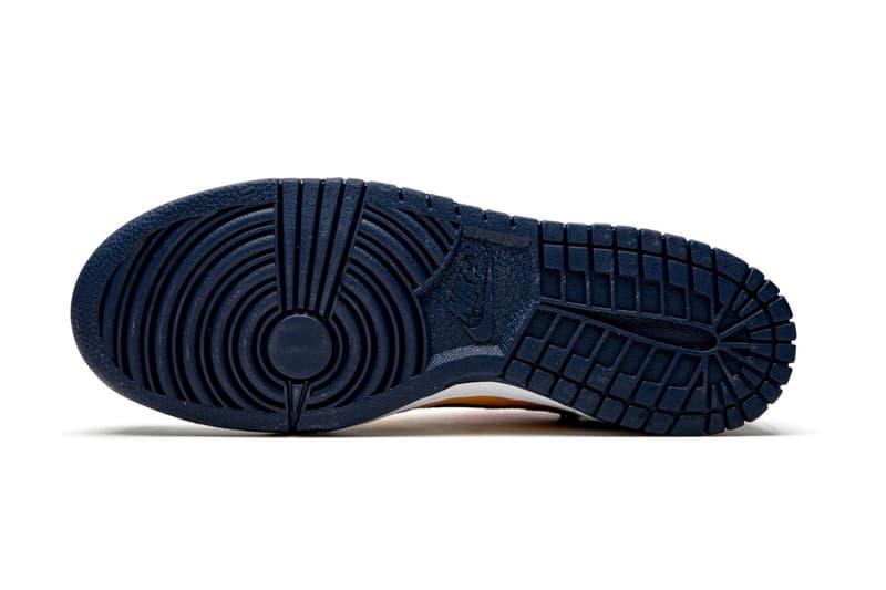 Off-White™ x Nike SB Dunk Low「University Gold」最新高清圖輯再度曝光