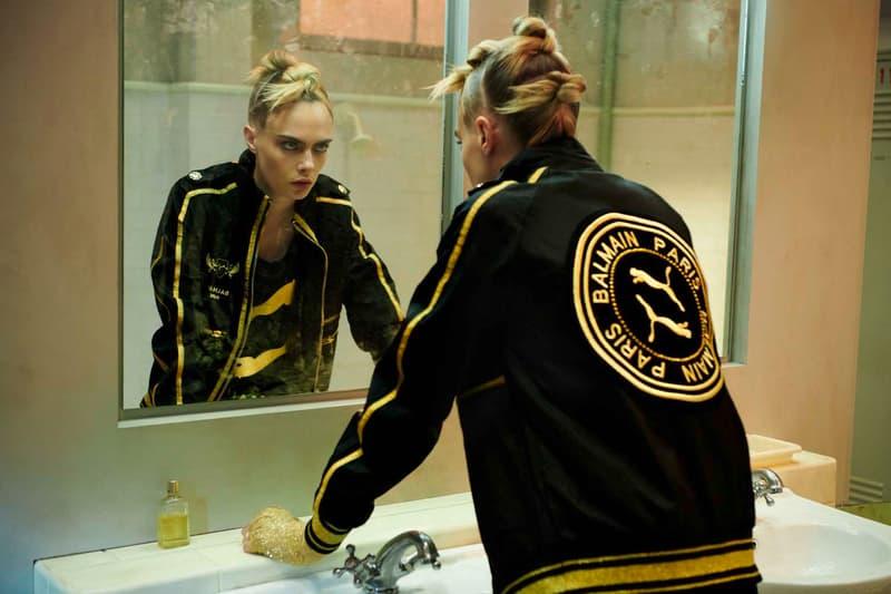 Cara Delevingne 演绎 PUMA x Balmain 聯名系列宣傳大片