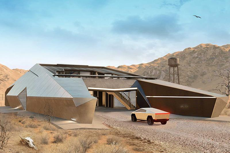 俄羅斯建築師打造 Tesla Cybertruck 概念建築「Cyberhouse」