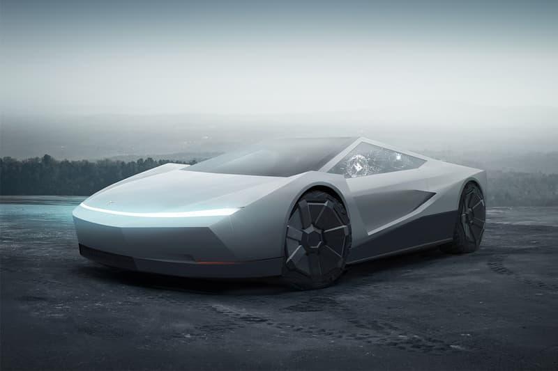 網民打造 Cybertruck 主題 Tesla Roadster 概念車型