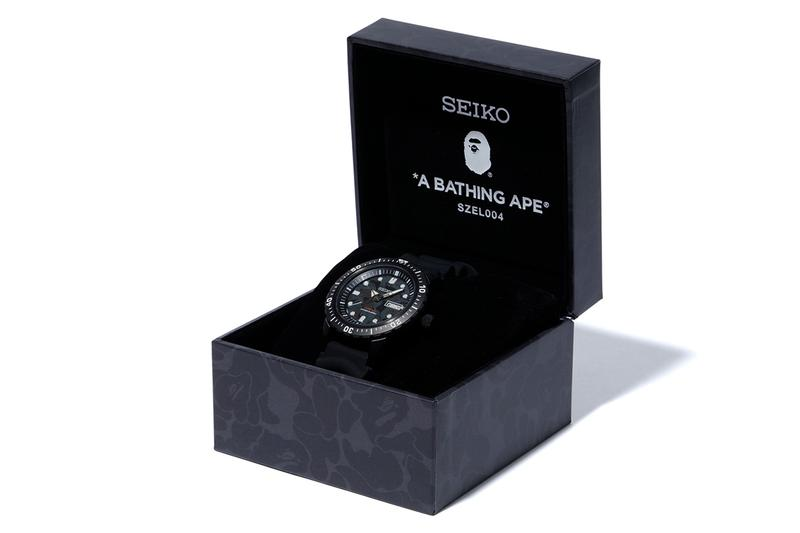 A BATHING APE® 再度聯手 Seiko 打造黑魂迷彩 Mechanical Divers 潛水腕錶