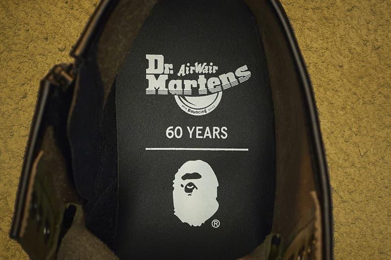 A BATHING APE® × Dr. Martens 全新聯乘 1460 靴款正式登場