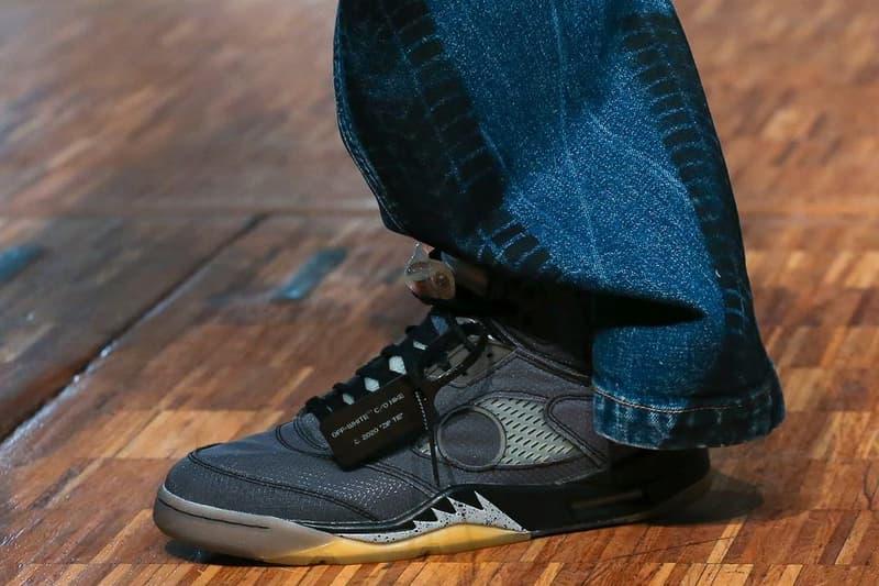 Off-White™ x Air Jordan 5 聯乘鞋款正式亮相巴黎時裝週