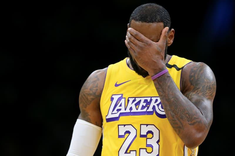 Anthony Davis 及 LeBron James 率領之 Lakers 今日慘輸 Celtics 32 分