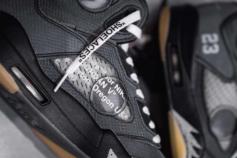 HYPEBEAST 率先近賞 Off-White™ x Air Jordan 5 全新聯乘鞋款