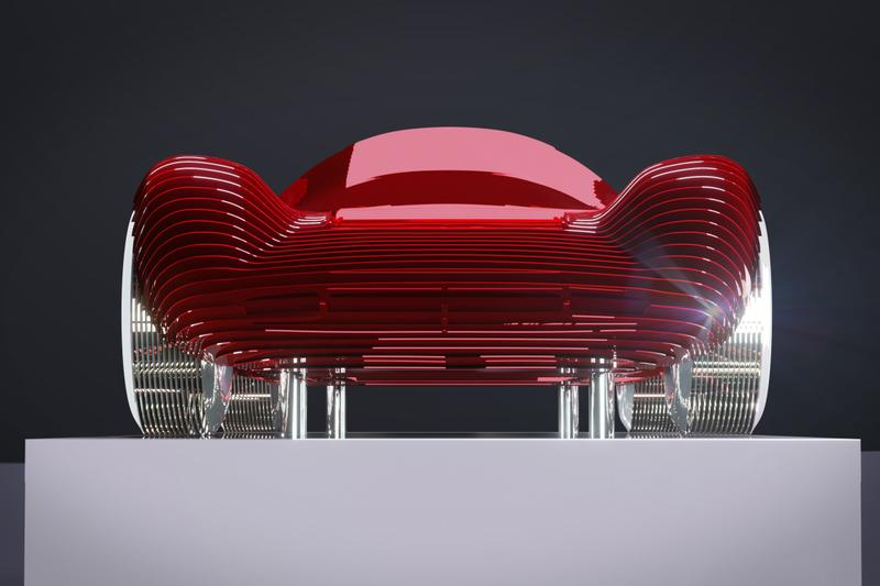 法國藝術家 Antoine Dufilho 打造 Ferrari 330 P4 光影鋁製雕像