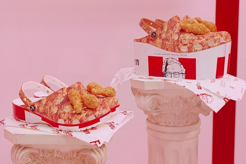 吮指飄香 - KFC x Crocs 推出全新「全家桶炸雞」聯乘鞋款