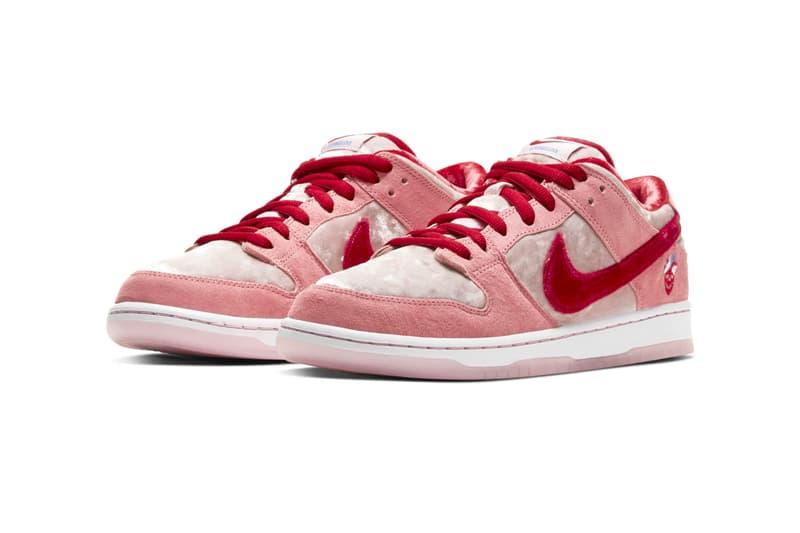 情人節獻禮-StrangeLove Skateboards x Nike SB Dunk Low 鞋款官方圖片