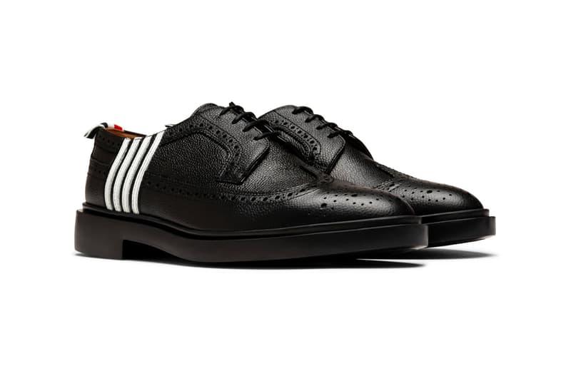四桿印花-Thom Browne 推出全新 Longwing Brogue 皮革鞋款