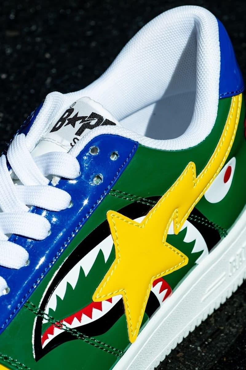 A BATHING APE® 為經典鞋款 BAPE STA 推出全新鯊魚別注款式
