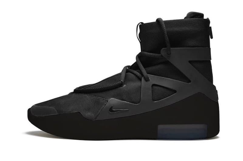 率先預覽 Nike Air Fear of God 1 全新配色「Triple Black」