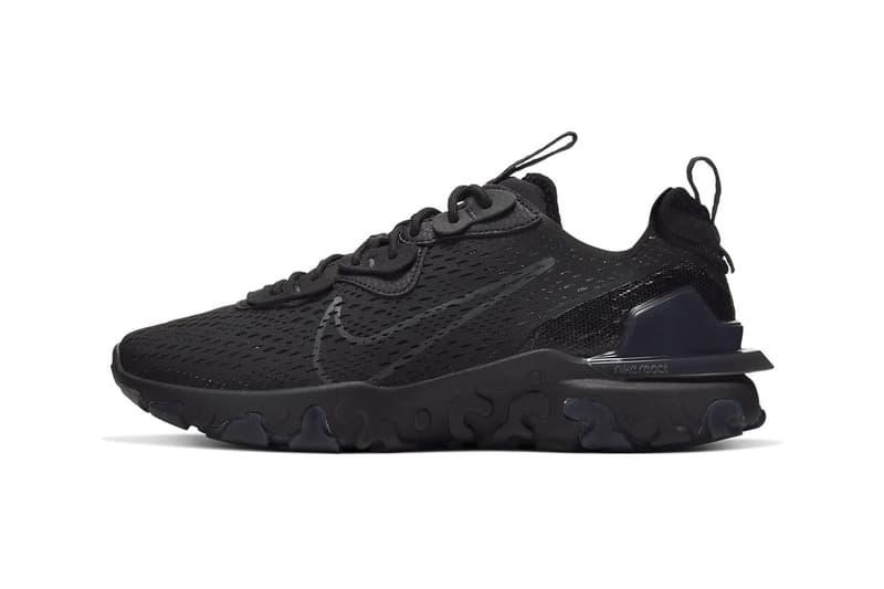 Nike React Vision 全新配色「Triple Black」正式發佈