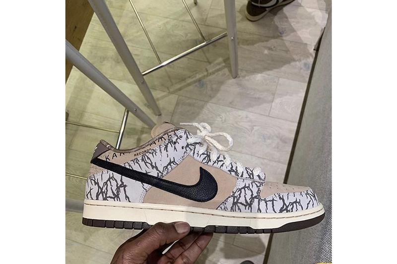 Travis Scott 意外曝光 Nike SB Dunk Low 聯名 Sample 鞋款