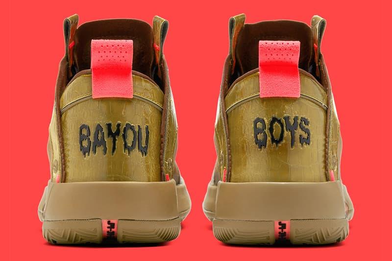 怪物新人 Zion Williamson 球員版 Air Jordan 34「Bayou Boys」正式發佈
