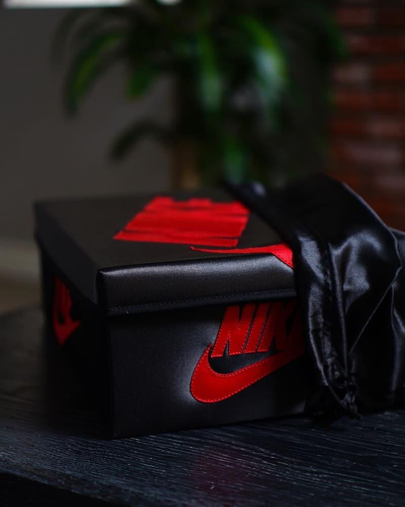 極級奢華-鞋迷限量謹製緞面材質別注 Air Jordan 1 鞋盒