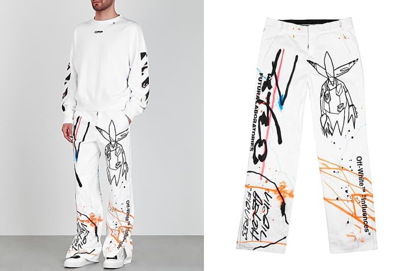 招牌盡現 - Off-White™ 攜手 Futura 打造之聯乘塗鴉褲款正式發佈