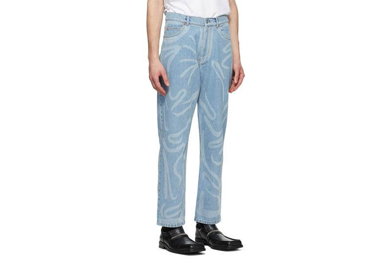 玩味十足 - Martine Rose 推出全新塗鴉摺紋直筒牛仔褲