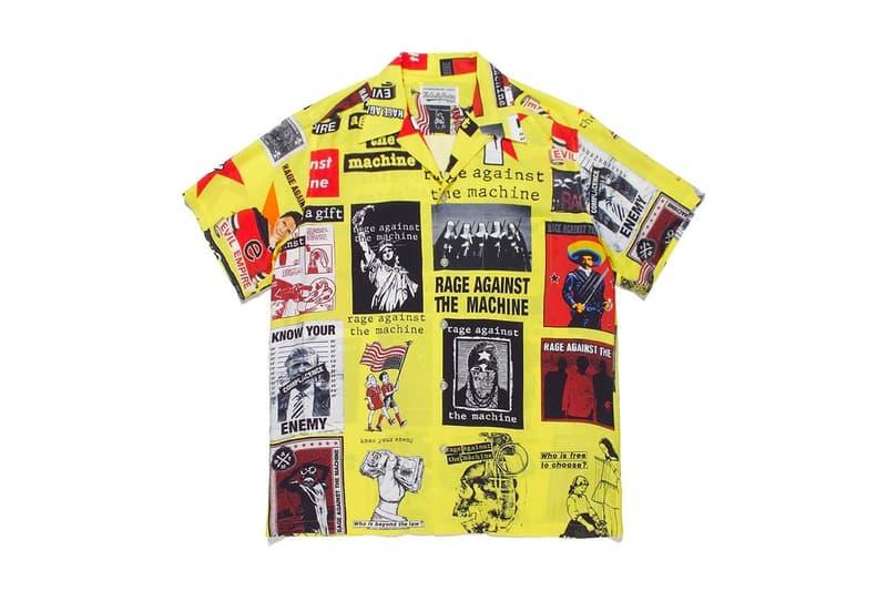 WACKO MARIA 攜手重金屬樂團  Rage Against The Machine 打造最新夏威夷襯衫系列