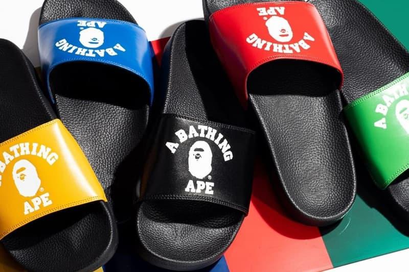 A BATHING APE® 推出全新 COLLEGE SLIDE SANDALS 拖鞋系列