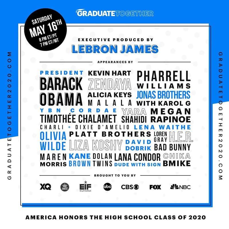 Graduate Together!LeBron James 为全美高中毕业生举办线上毕业典礼
