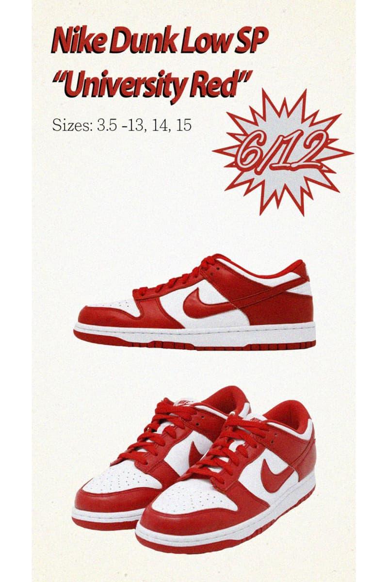 Nike Dunk Low SP 鞋款全新三配色發售日期確認