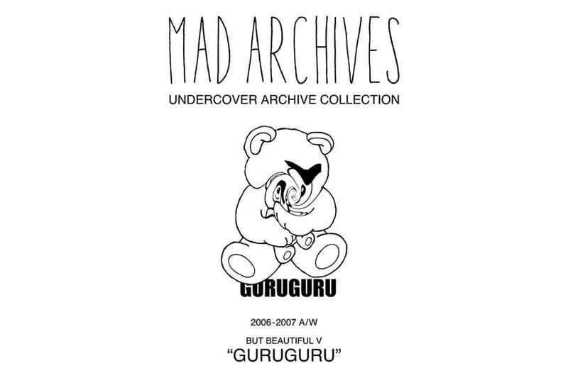 UNDERCOVER 全新 MAD ARCHIVES「GURUGURU」系列正式發佈