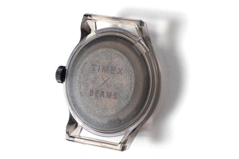 BEAMS x TIMEX 打造別注透明材質手錶系列