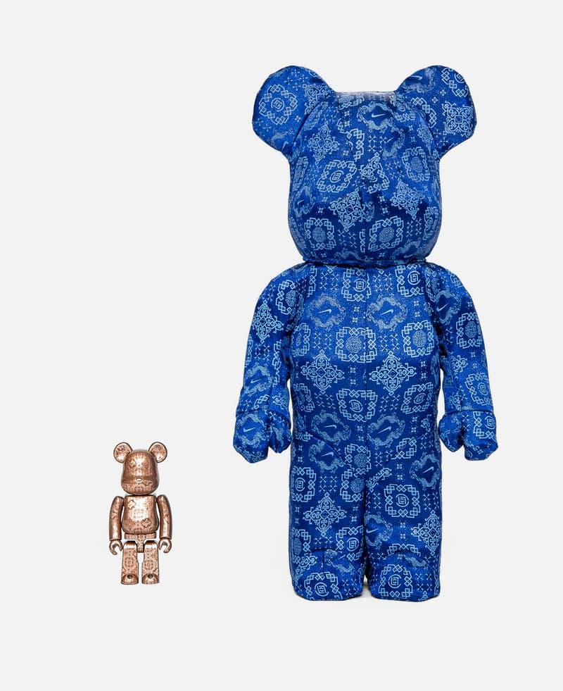 CLOT x Nike x Medicom Toy 推出三方聯名 BE@RBRICK「藍絲綢」套裝