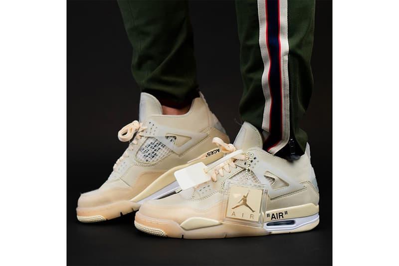 率先近賞 Off-White™ x Air Jordan 4「Sail」最新實着圖輯